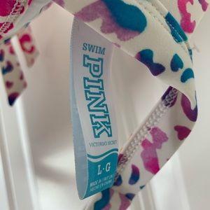 PINK Victoria's Secret Swim - Victoria's Secret PINK push up leopard bikini L